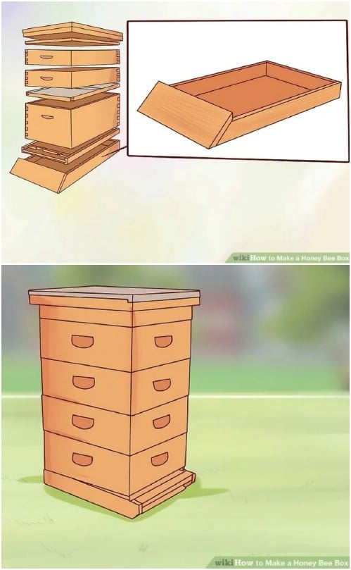 Easy To Build Honey Bee Box