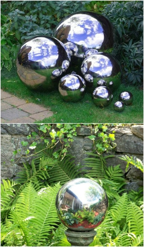 Easy DIY Mirrored Gazing Ball