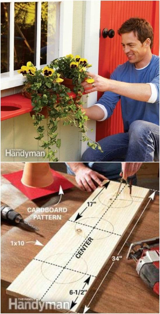 DIY Pot Holder Window Box