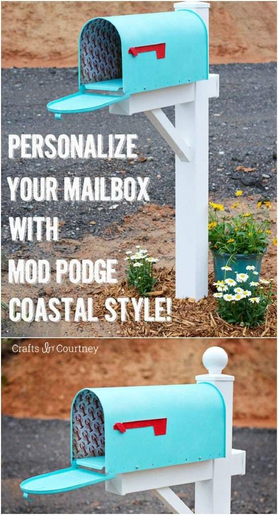 DIY Coastal Themed Mailbox