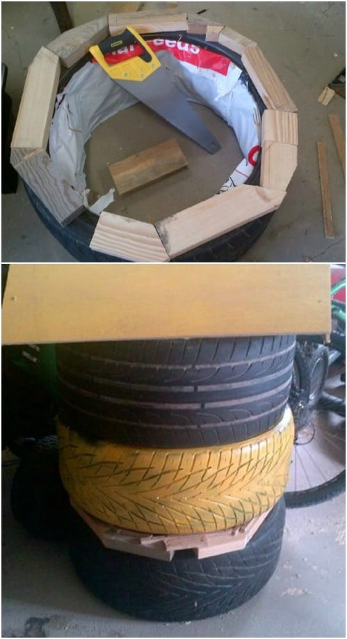 Upcycled Used Tire Beehive