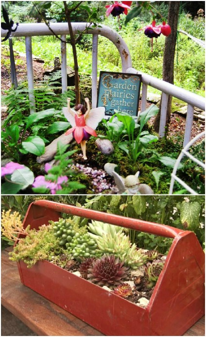 Upcycled Flower Bed