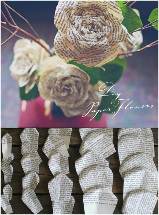 Easy Detailed DIY Book Paper Roses