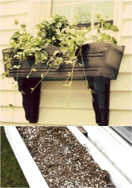 DIY Plank Pine Window Box