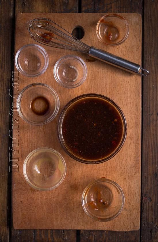 Homemade sauce mixing: