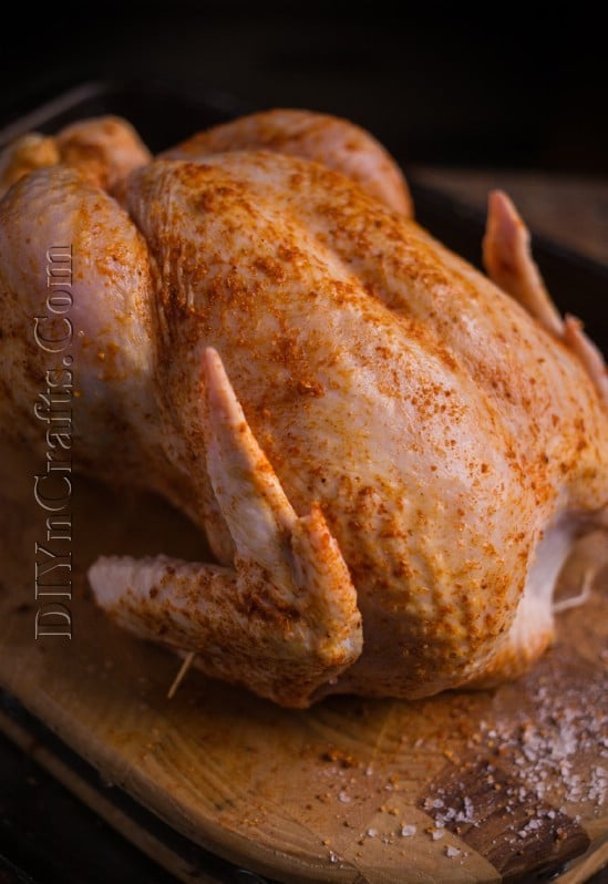 Seasoning the chicken: