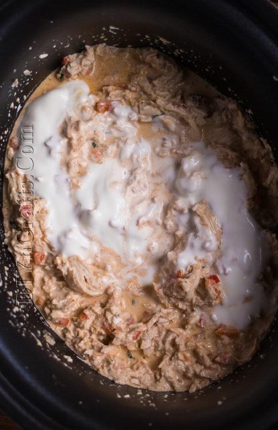 Adding sour cream: