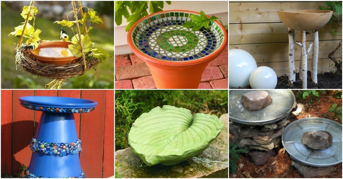 20 Adorably Easy DIY Bird Baths You'll Want To Add To Your Garden Today