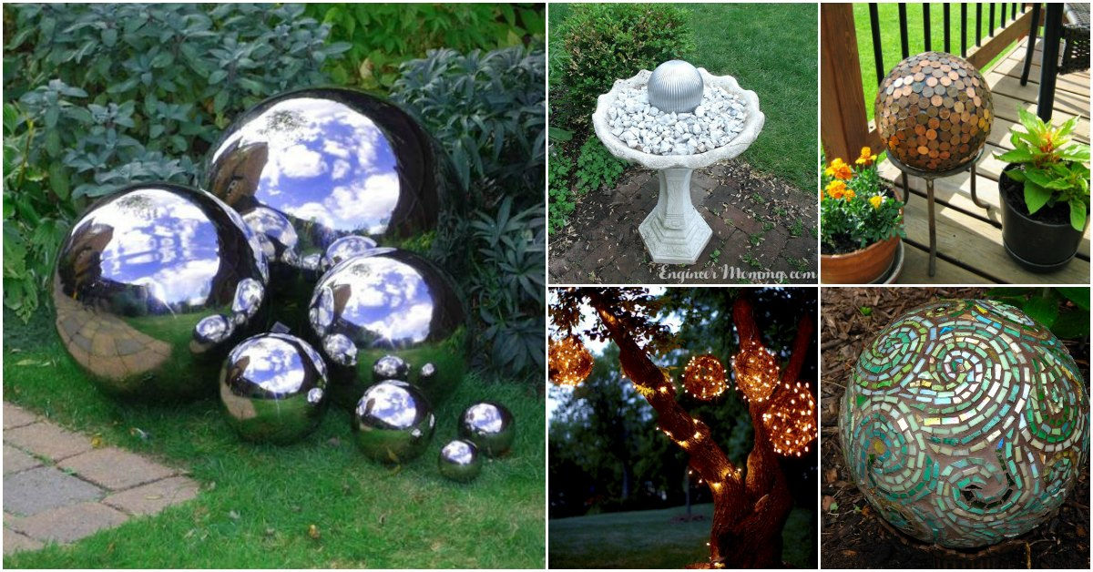 40 Gorgeous DIY Gazing Balls To Decorate Your Garden DIY Crafts Gorgeous Decorative Globe Balls
