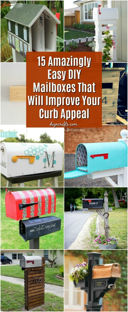 15 Amazingly Easy DIY Mailboxes That Will Improve Your Curb Appeal