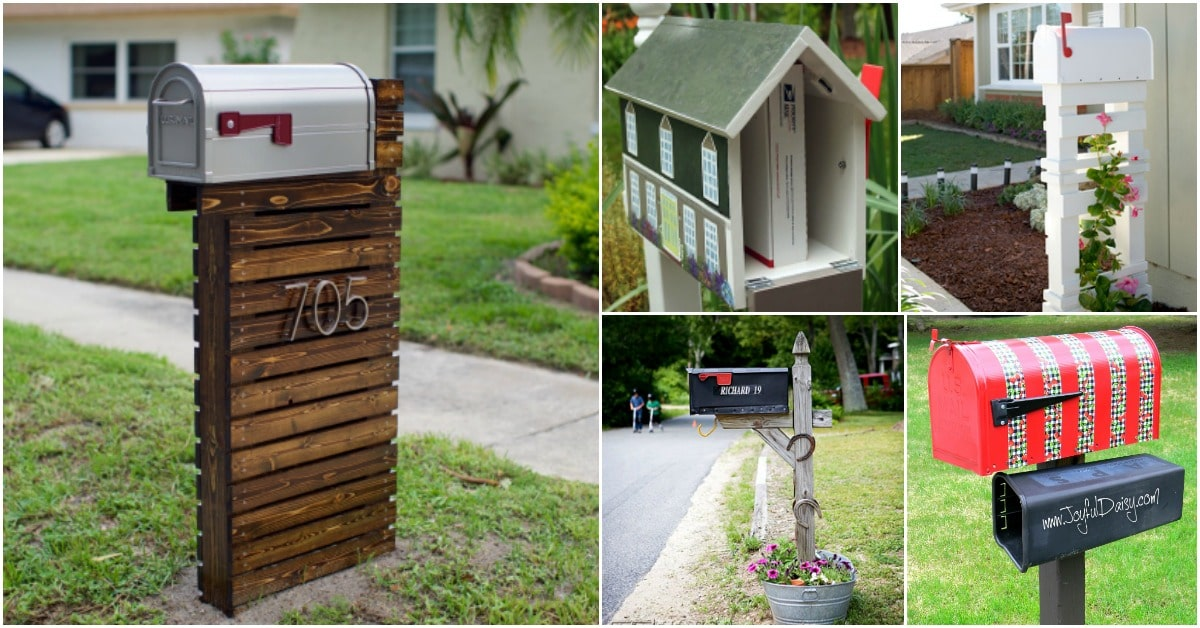 Well-liked 15 Amazingly Easy DIY Mailboxes That Will Improve Your Curb Appeal  VM69