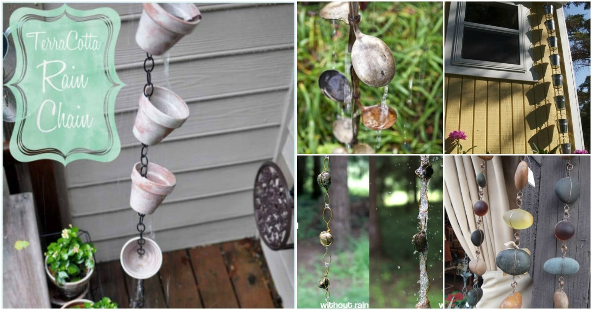 15 Simple Diy Rain Chains That Add Dramatic Flair To Your Outdoors