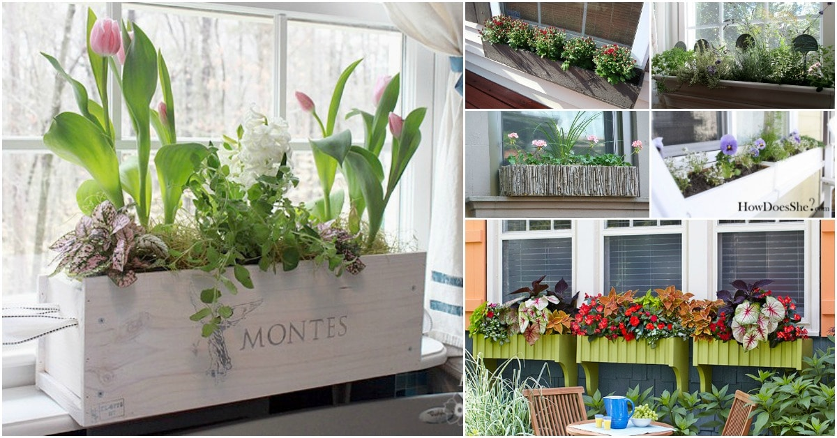 20 Gorgeous Diy Window Flower Box Planters To Beautify Your Home