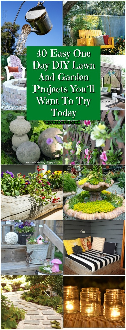 Diy Garden Projects Part - 45: 40 Easy One Day DIY Lawn And Garden Projects Youu0027ll Want To Try Today
