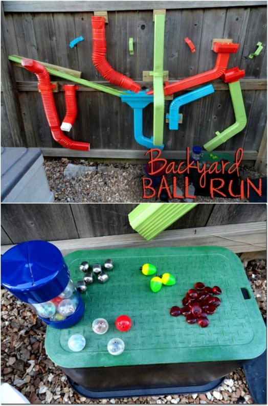 DIY Backyard Ball Run