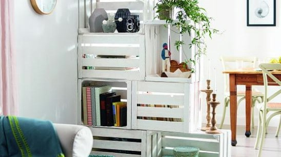 DIY Fruit Crate Room Divider
