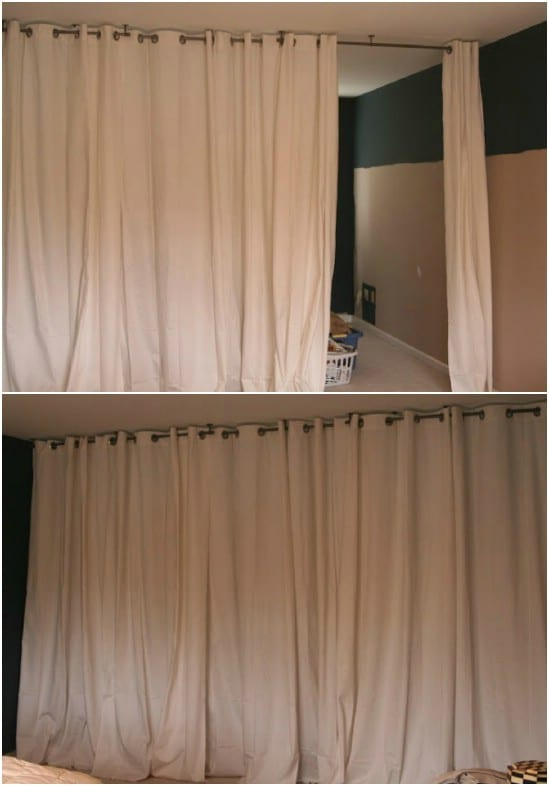 Diy ideas 16 ways to maximize space with room dividers - Room divider curtain ideas ...