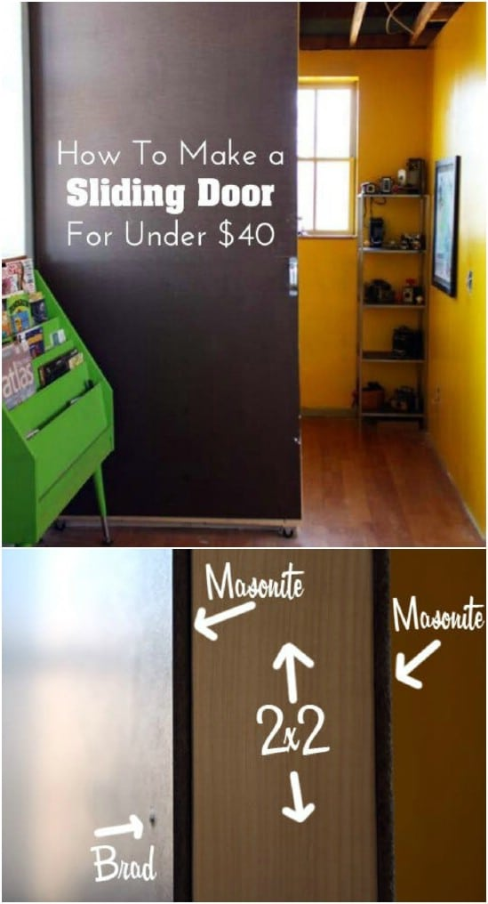 DIY Sliding Door Divider