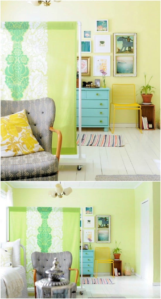 DIY Fabric Screen