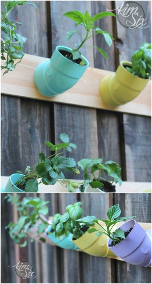 DIY PVC Elbow Joint Vertical Garden