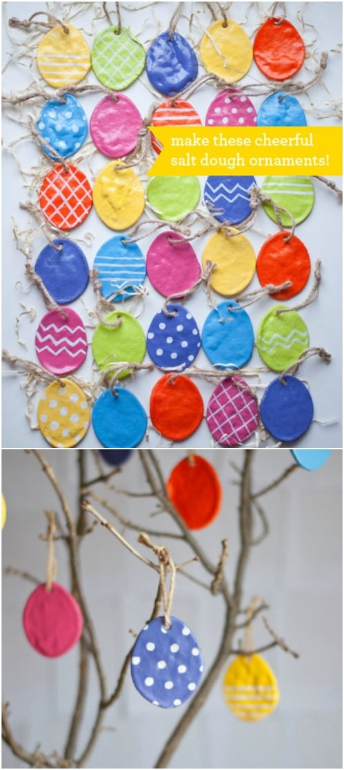 Easy DIY Salt Dough Egg Ornaments