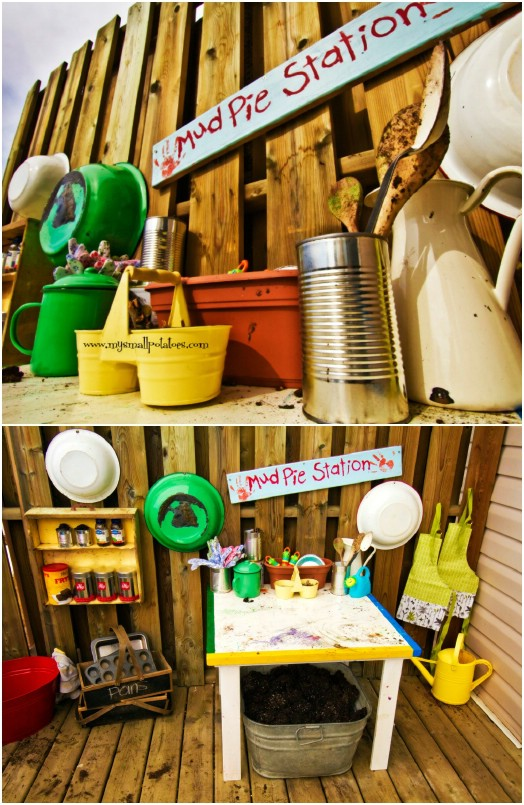 Cute DIY Mud Pie Station