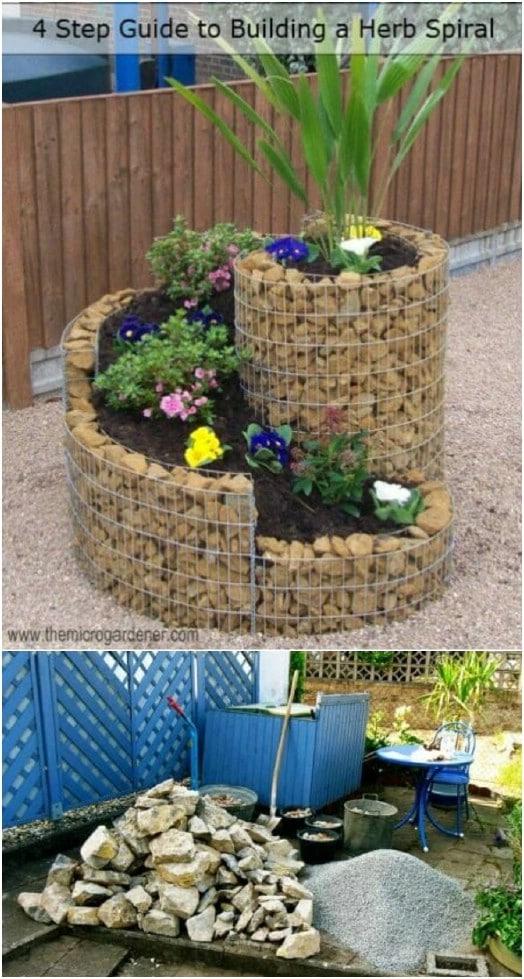 DIY Spiral Vertical Garden