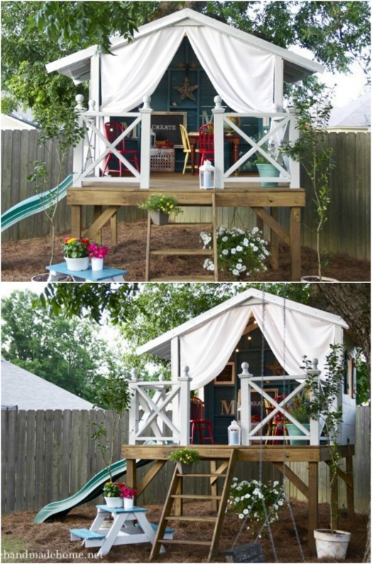 DIY Off The Ground Playhouse