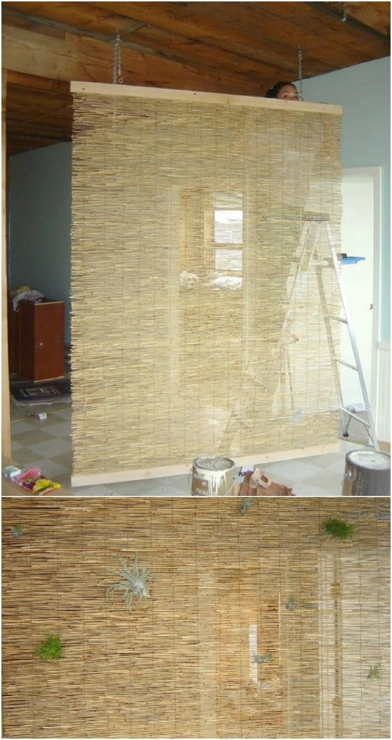 Tropical Style Reed Fencing Room Divider