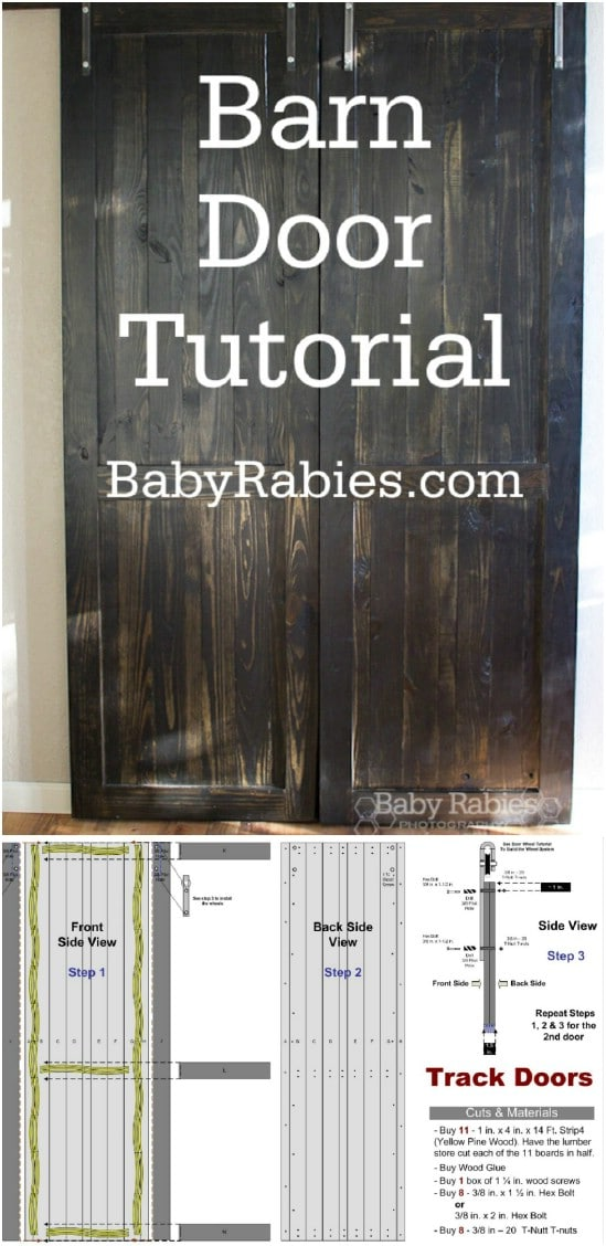 DIY Rustic Barn Door Divider