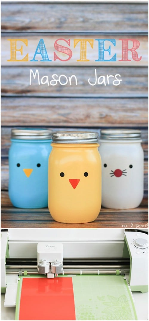 Cute DIY Easter Mason Jars