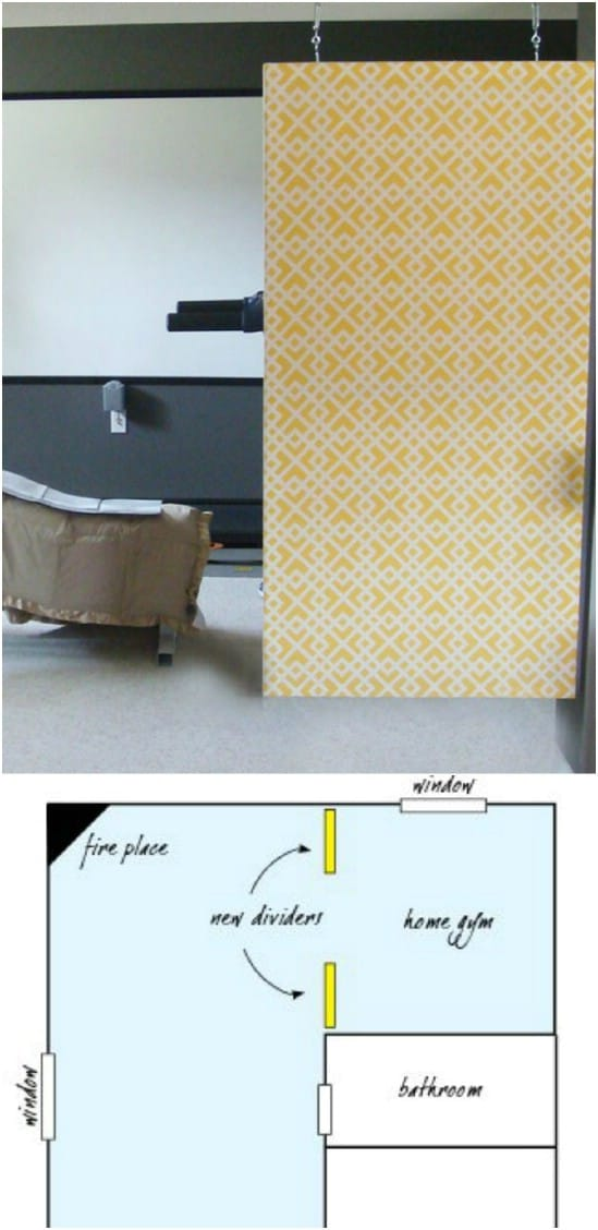DIY Hanging Canvas Room Divider