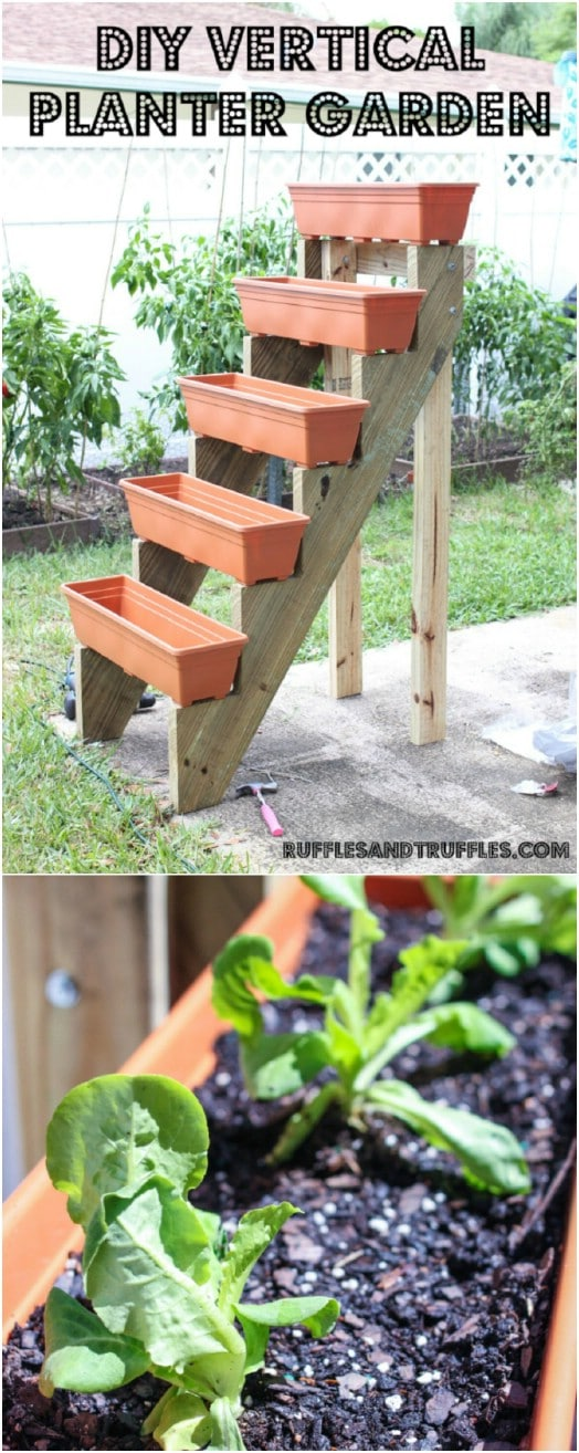 DIY Stair Step Vertical Garden