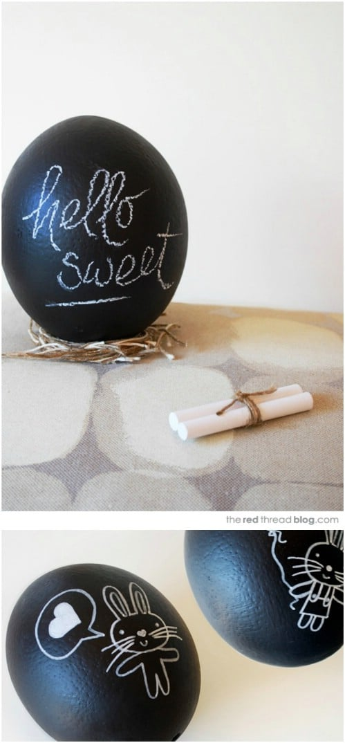 DIY Chalkboard Message Eggs