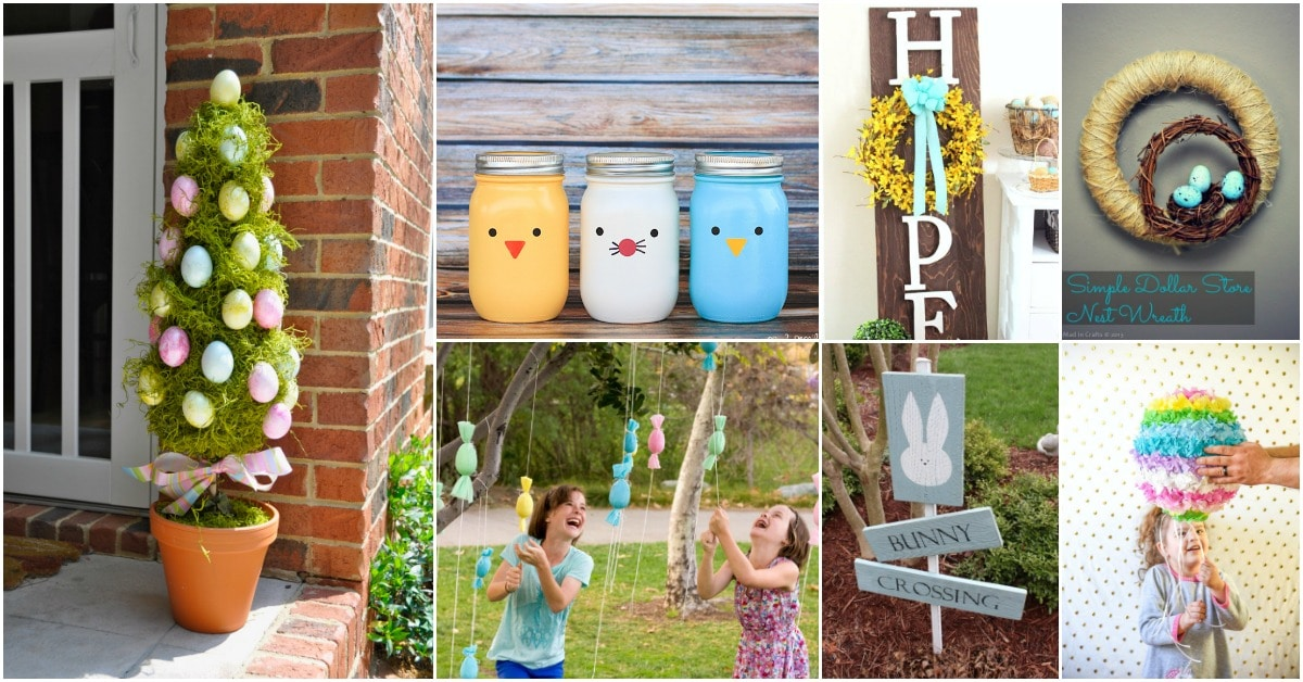25 creative diy outdoor easter decorations that fill your. Black Bedroom Furniture Sets. Home Design Ideas