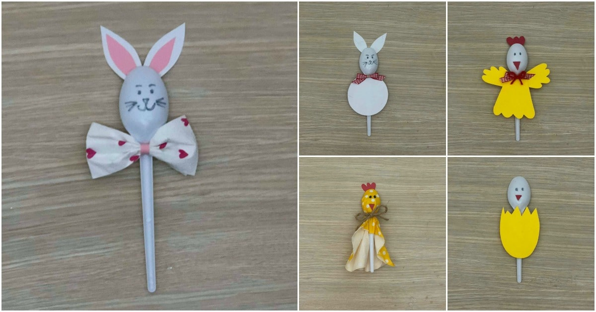 5 Fun Easter Crafts for Kids Using … Plastic Spoons! - DIY ...