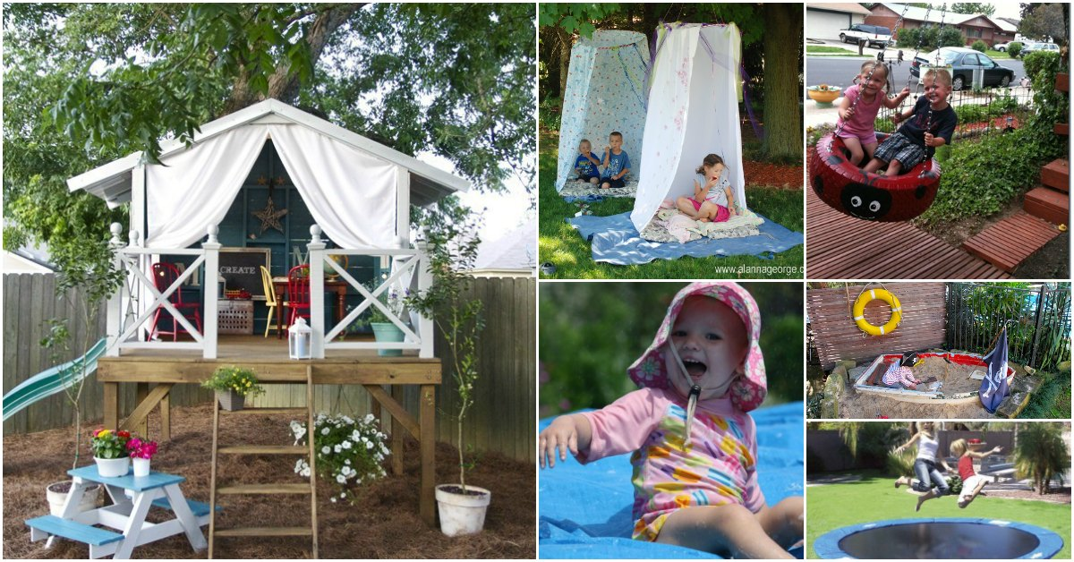 30 Fun DIY Outdoor Play Areas That Will Keep Your Kids ...