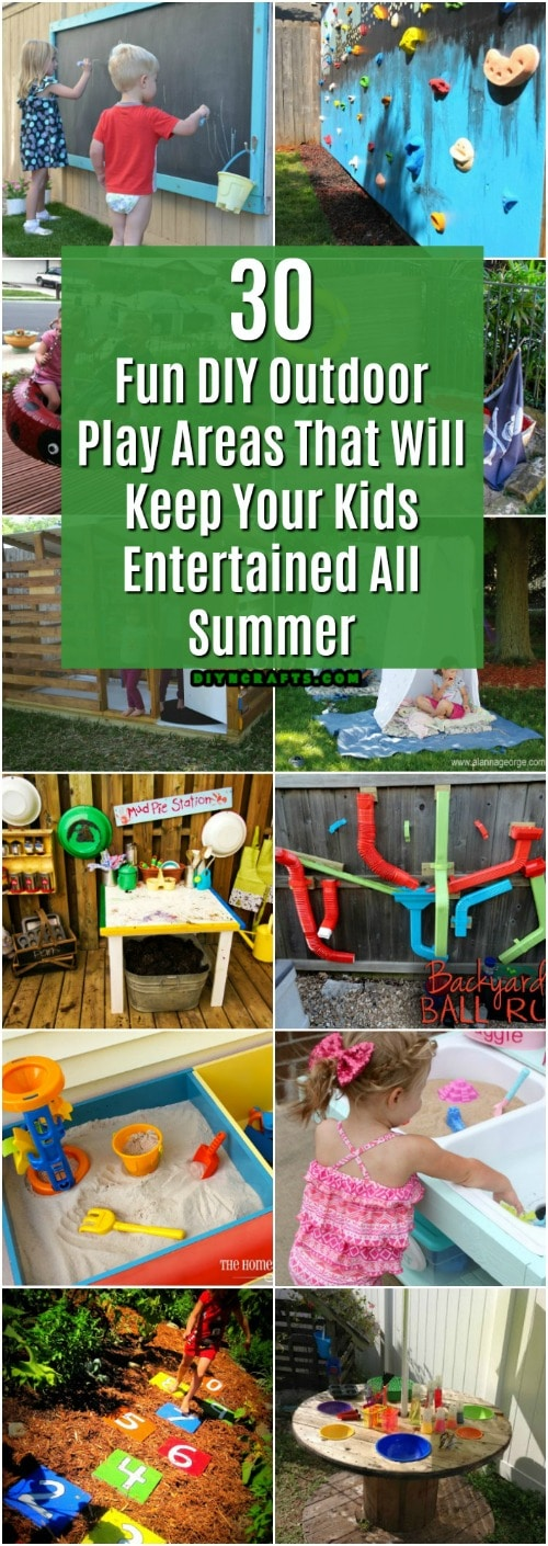 30 Fun DIY Outdoor Play Areas That Will Keep Your Kids Entertained All  Summer - 30 Fun DIY Outdoor Play Areas That Will Keep Your Kids Entertained