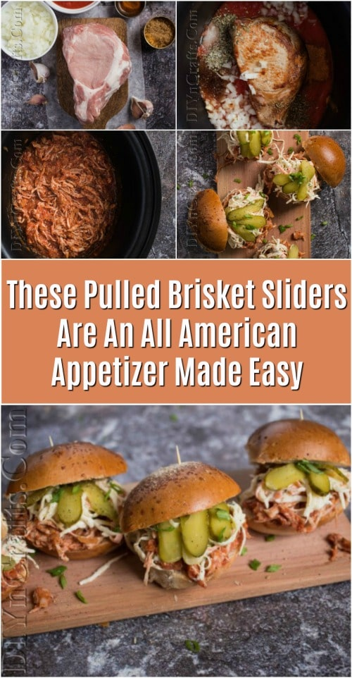 These Pulled Brisket Sliders Are An All American Appetizer Made Easy