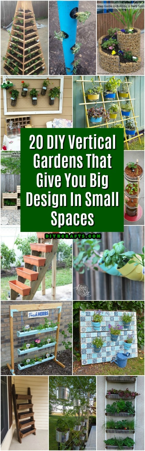 20 Diy Vertical Gardens That Give You Joy In Small Spaces Diy Crafts