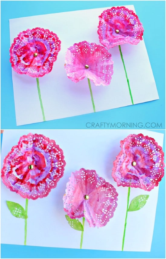 DIY 3D Doily Flowers