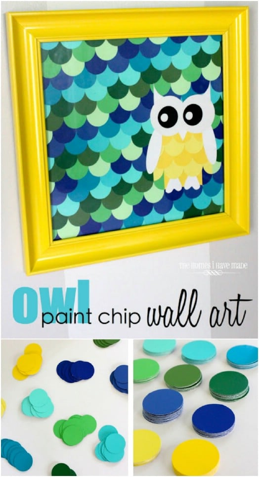 Paint Chip Owl Art