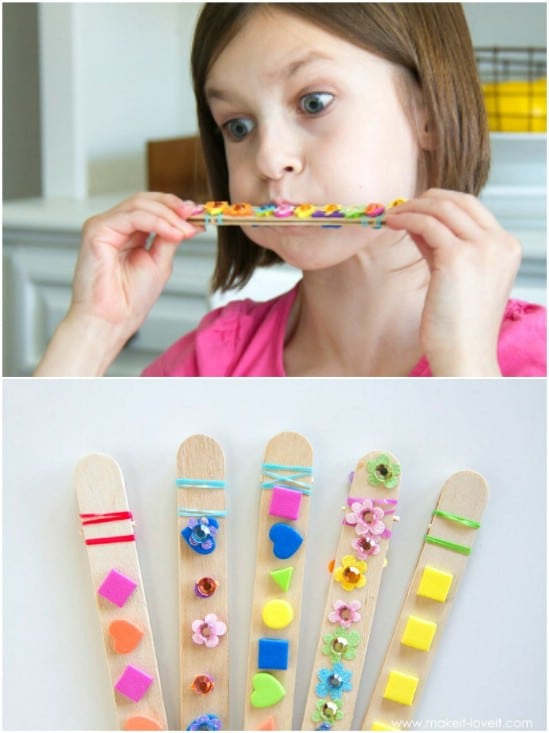 Fun And Easy Craft Stick Harmonicas