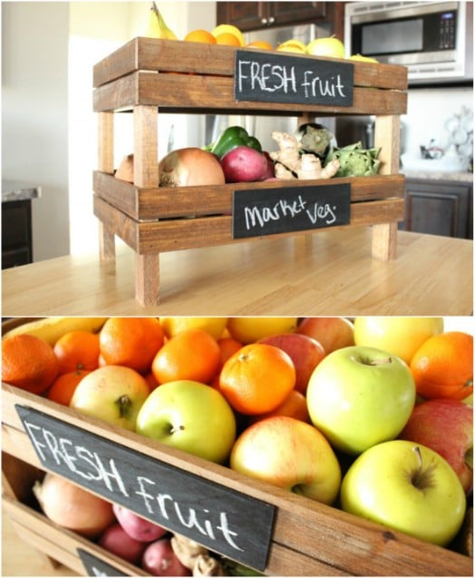 Stackable Chalkboard DIY Produce Storage