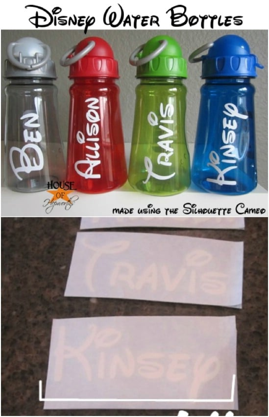 DIY Customized Disney Water Bottles