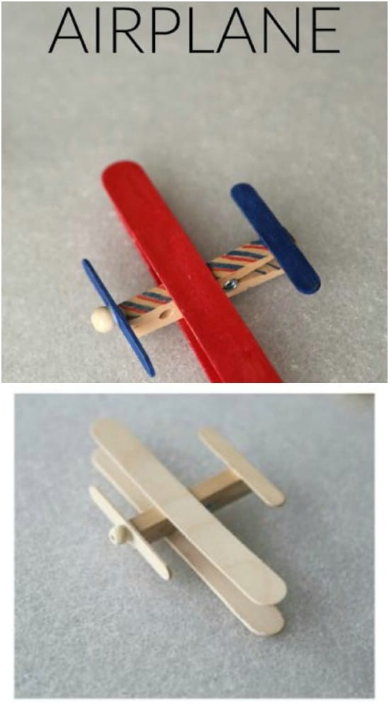 Easy Popsicle Stick Airplane