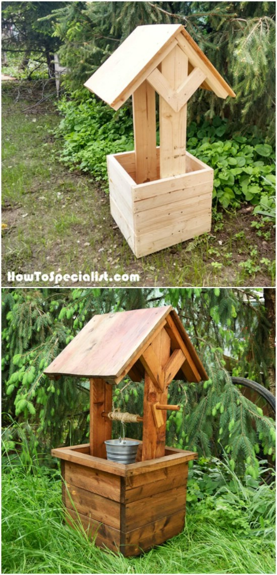 Easy DIY Wishing Well Planter
