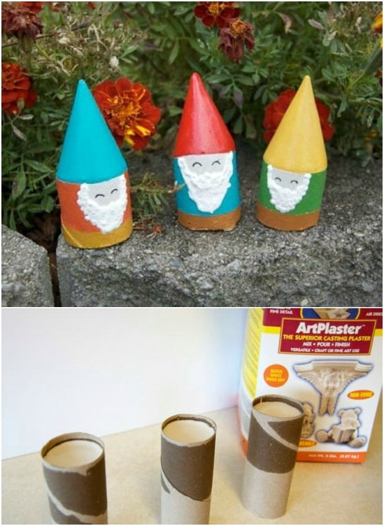 Adorable DIY Mini Garden Gnomes