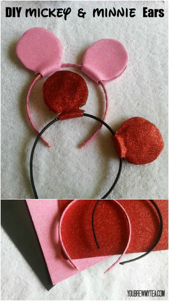 DIY Mickey And Minnie Ears