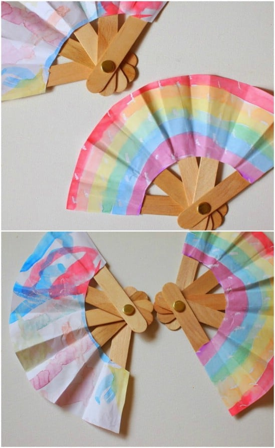 DIY Folding Popsicle Stick Fan